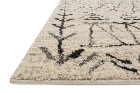 Emory Rug in Heather Grey & Black by Loloi