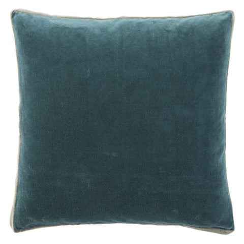 Bryn Solid Teal & Grey Pillow