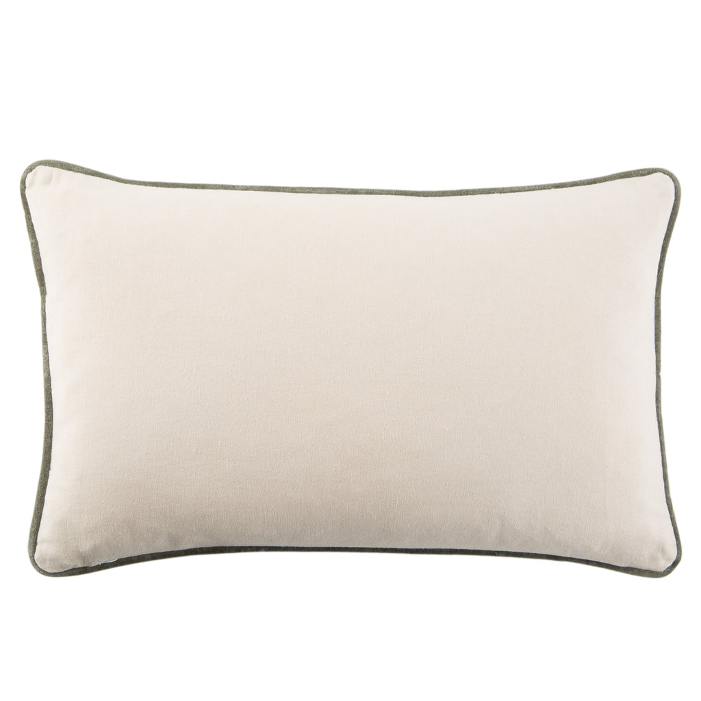 Lyla Solid Teal & Grey Pillow