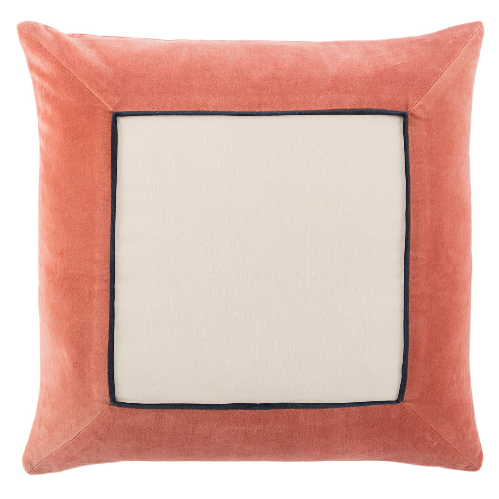 Hendrix Border Pink & Cream Pillow