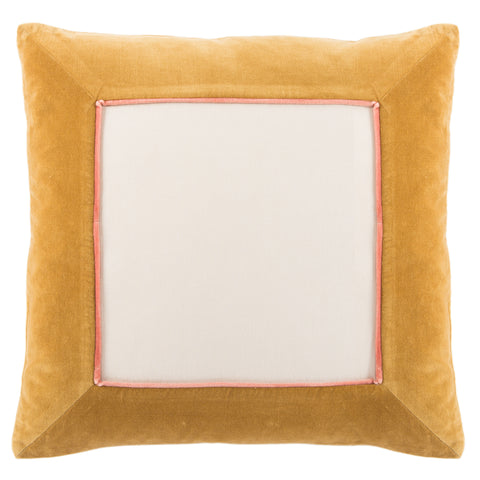 Hendrix Border Gold & Cream Pillow