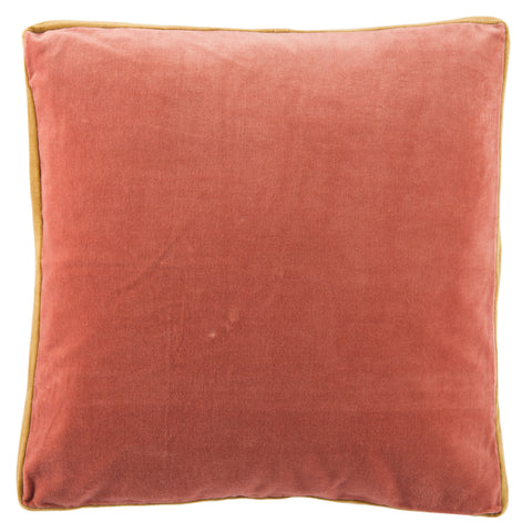 Bryn Solid Pink & Gold Pillow
