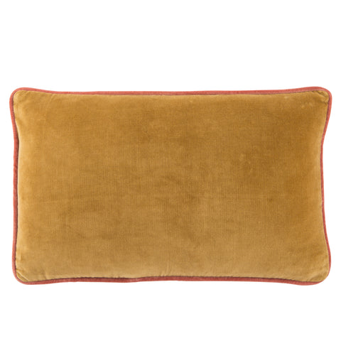Lyla Solid Gold & Pink Pillow