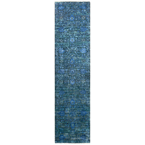 Empress EMS-7008 Hand Knotted Rug in Denim & Charcoal by Surya