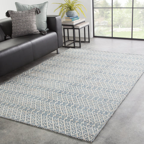 Carrie Trellis Rug in Majolica Blue & Stargazer design by Jaipur Living