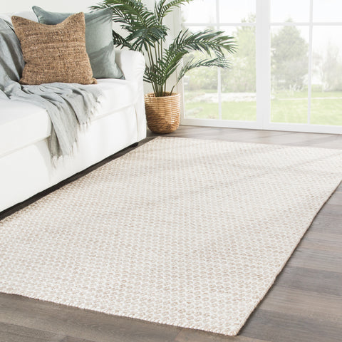 Pompano Trellis Rug in Snow White & Nougat design by Jaipur Living
