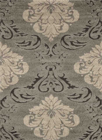 Enchant Rug in Smoke & Beige by Loloi