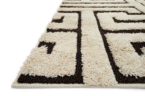 Enchant Rug in Ivory & Dark Brown by Loloi