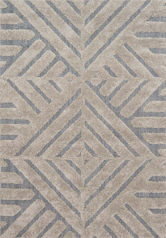 Enchant Rug in Grey & Slate by Loloi