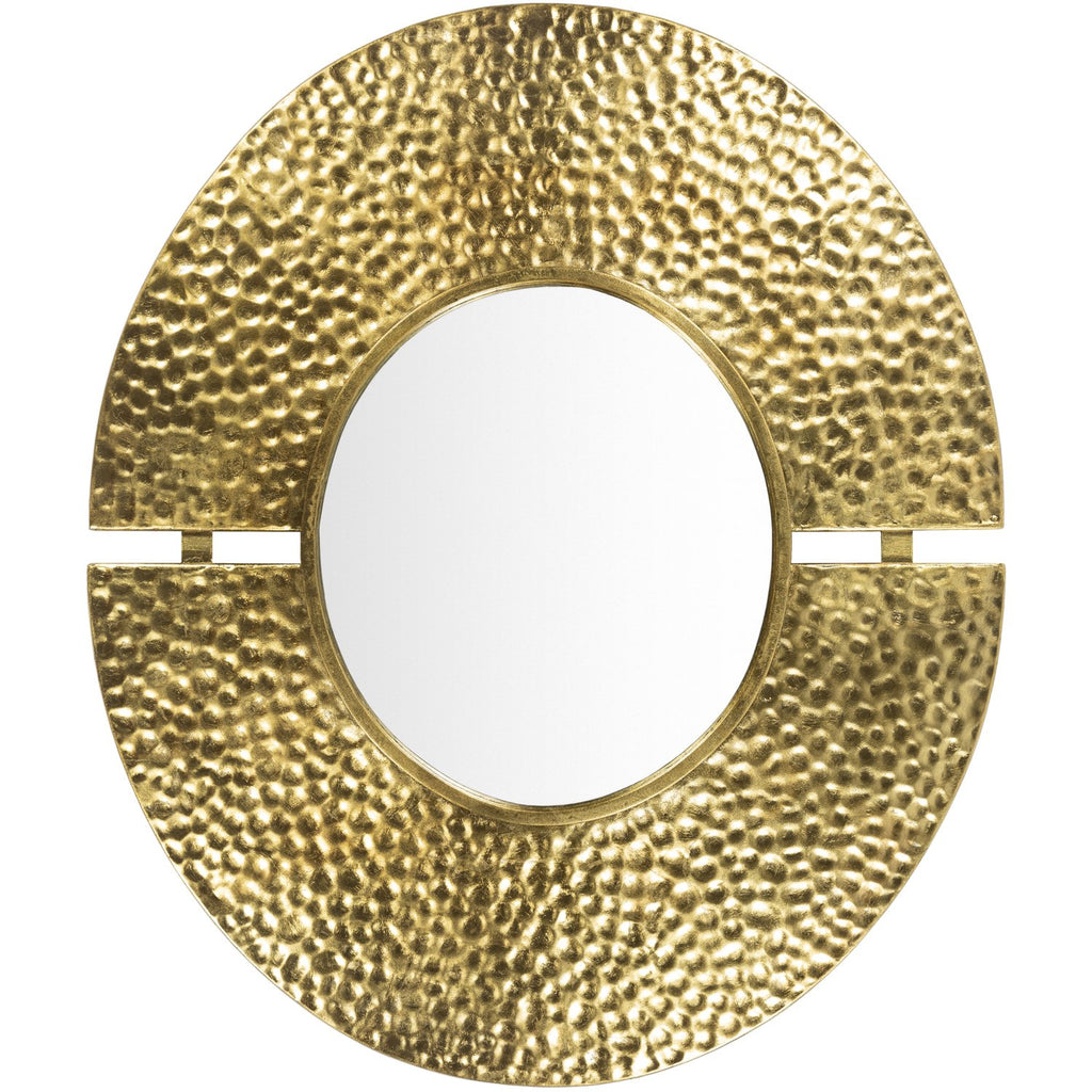 Eloy EOY-001 Oval Mirror in Gold by Surya