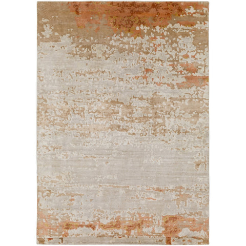 Ephemeral EPH-1001 Hand Knotted Rug in Burnt Orange & Peach by Surya