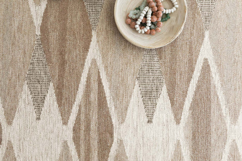 Evelina Rug in Taupe & Bark by Loloi