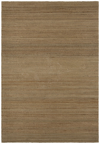 Evie Collection Hand-Woven Area Rug in Tan & Natural