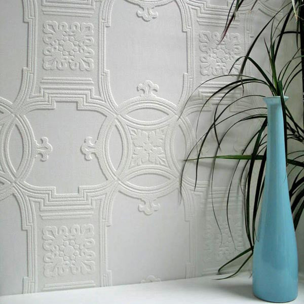 Early Victorian Paintable Textured Wallpaper design by Brewster Home Fashions