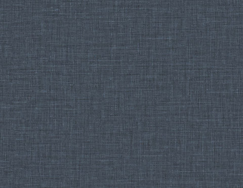 Easy Linen Wallpaper in Admiral Blue from the Texture Gallery Collection by Seabrook Wallcoverings