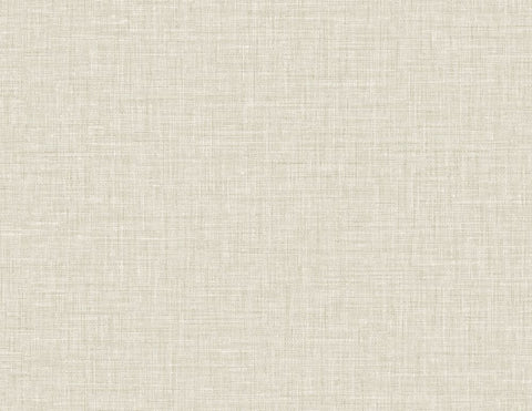 Easy Linen Wallpaper in Alabaster from the Texture Gallery Collection by Seabrook Wallcoverings
