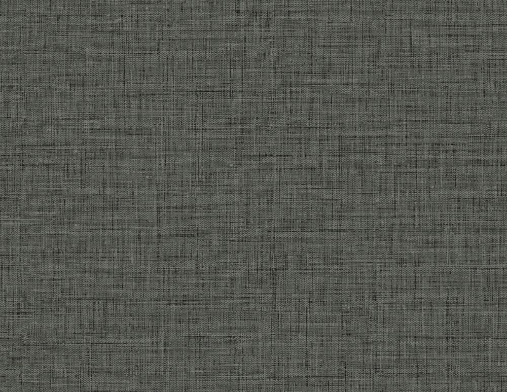 Easy Linen Wallpaper in Charcoal from the Texture Gallery Collection by Seabrook Wallcoverings