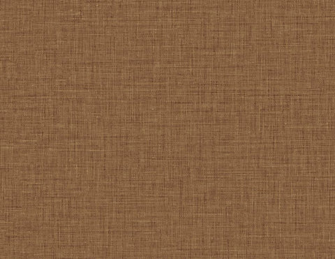 Easy Linen Wallpaper in Copper from the Texture Gallery Collection by Seabrook Wallcoverings