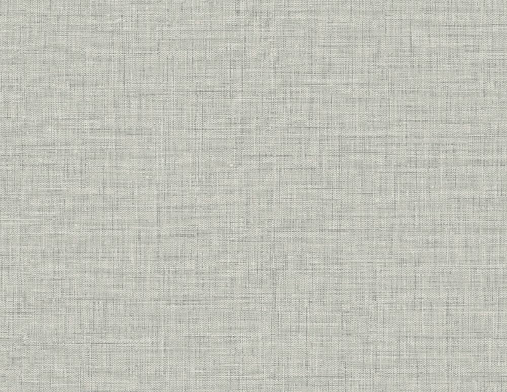 Sample Easy Linen Wallpaper in Fog Grey from the Texture Gallery Collection by Seabrook Wallcoverings