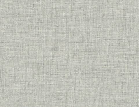 Easy Linen Wallpaper in Fog Grey from the Texture Gallery Collection by Seabrook Wallcoverings