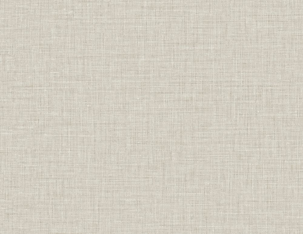 Easy Linen Wallpaper in Silverpointe from the Texture Gallery Collection by Seabrook Wallcoverings