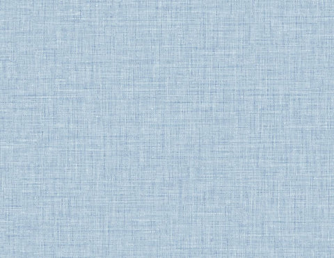 Easy Linen Wallpaper in Sky Blue from the Texture Gallery Collection by Seabrook Wallcoverings