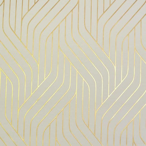 Ebb And Flow Wallpaper in Almond and Gold by Antonina Vella for York Wallcoverings