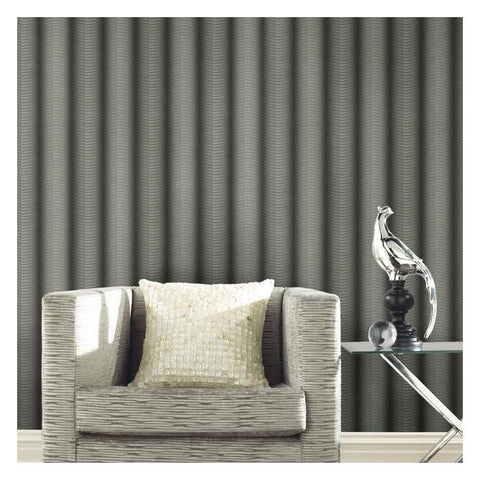 Ebb and Flow Wallpaper in Charcoal and Black from the Urban Oasis Collection by York Wallcoverings