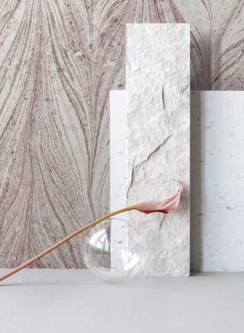 Ebru Marble Wallpaper from the Natural Opalescence Collection by Antonina Vella for York Wallcoverings