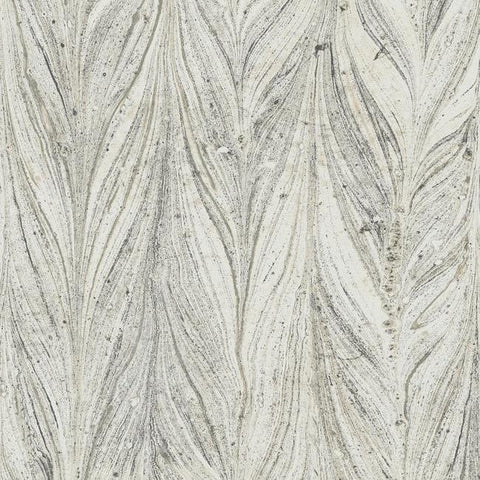Ebru Marble Wallpaper in Cool Grey from the Natural Opalescence Collection by Antonina Vella for York Wallcoverings