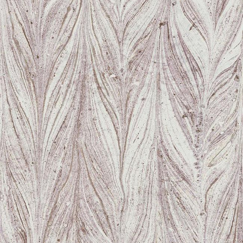 Ebru Marble Wallpaper in Purple from the Natural Opalescence Collection by Antonina Vella for York Wallcoverings