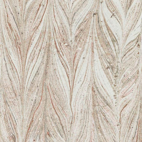 Ebru Marble Wallpaper in Sienna from the Natural Opalescence Collection by Antonina Vella for York Wallcoverings