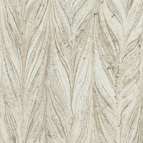 Ebru Marble Wallpaper in Warm Neutral from the Natural Opalescence Collection by Antonina Vella for York Wallcoverings