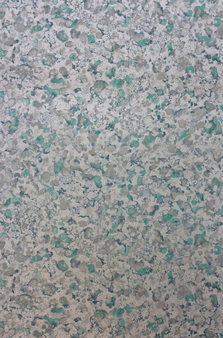 Ebru Wallpaper in Jade and Metallic Gilver from the Pasha Collection by Osborne & Little