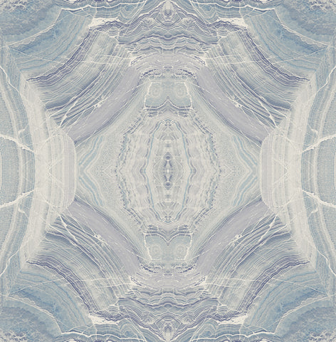Echo Wallpaper in Blue and Green from the Solaris Collection by Mayflower Wallpaper