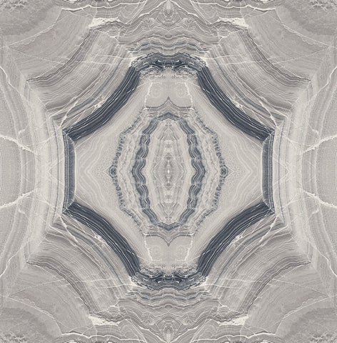 Echo Wallpaper in Graphite and Gunmetal from the Solaris Collection by Mayflower Wallpaper