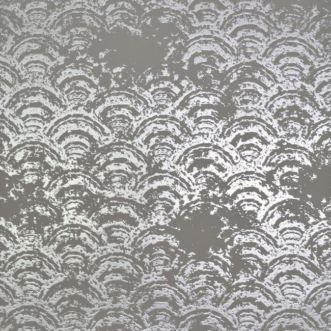 Sample Eclipse Wallpaper in Grey and Silver by Antonina Vella for York Wallcoverings