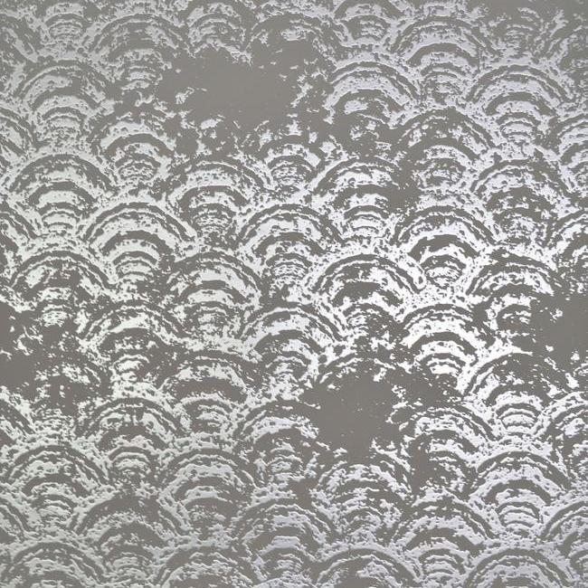 Eclipse Wallpaper in Grey and Silver by Antonina Vella for York Wallcoverings