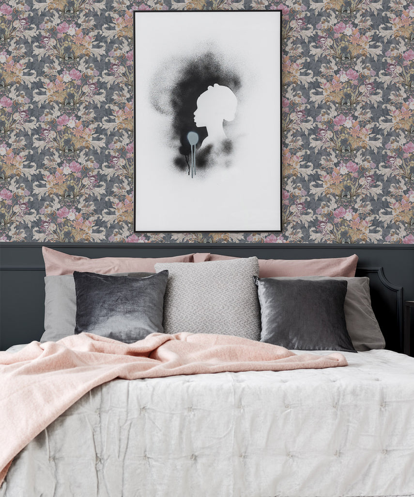Efflorescence Wallpaper in Grey by Simcox Designs for Milton & King