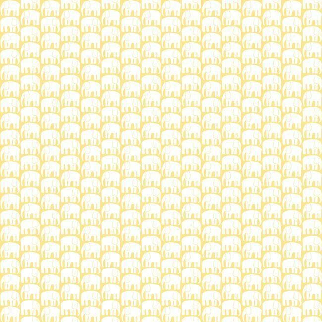 Elefantti Peel & Stick Wallpaper in Yellow by RoomMates for York Wallcoverings