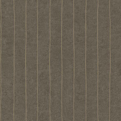 Elemental Stripe Wallpaper in Metallic Neutrals by York Wallcoverings
