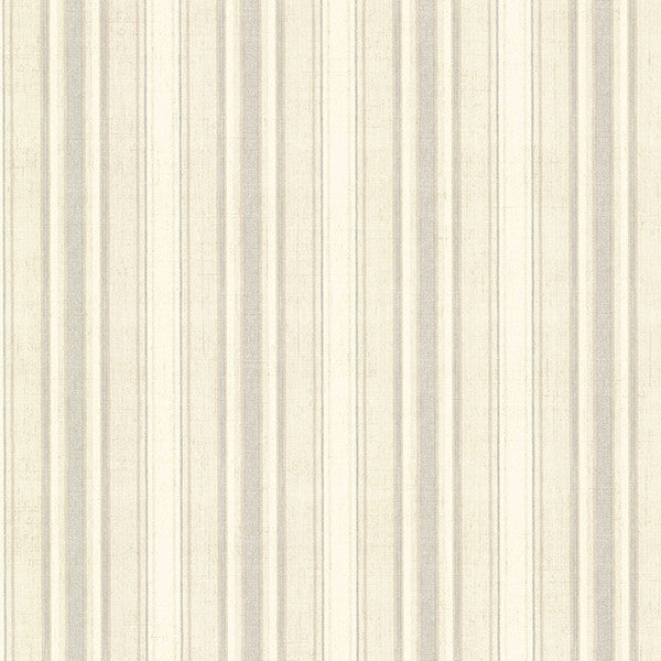 Sample Ellsworth Grey Sunny Stripe Wallpaper from the Seaside Living Collection by Brewster Home Fashions