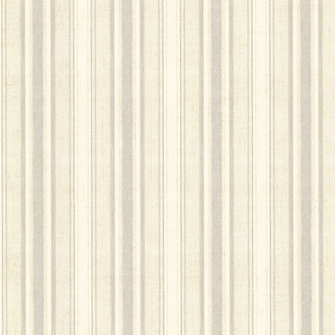 Ellsworth Grey Sunny Stripe Wallpaper from the Seaside Living Collection by Brewster Home Fashions