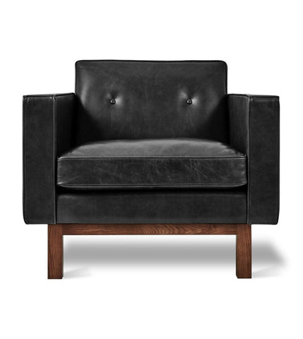 Embassy Chair in Saddle Black Leather design by Gus Modern