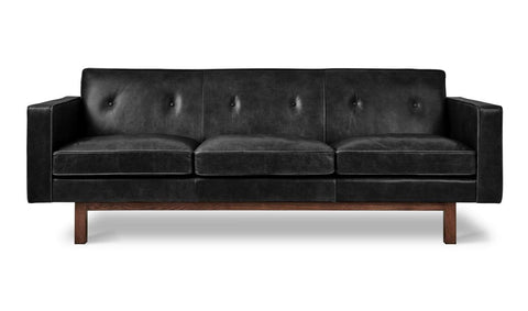 Embassy Sofa in Saddle Black Leather design by Gus Modern