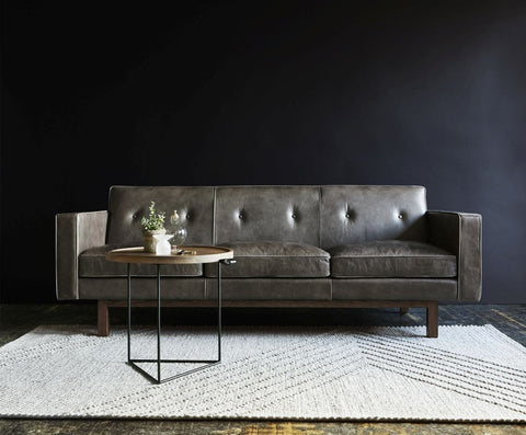 Embassy Sofa in Saddle Grey Leather design by Gus Modern