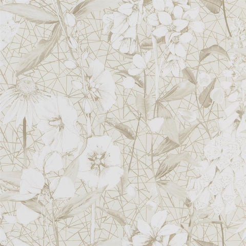 Emelie Wallpaper in Vanilla from the Mandora Collection by Designers Guild