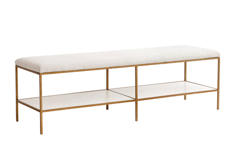 Emerson Bench in Various Fabrics & Finishes