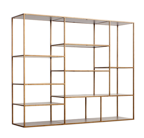 Emerson Bookshelf in Antique Gold design by Redford House