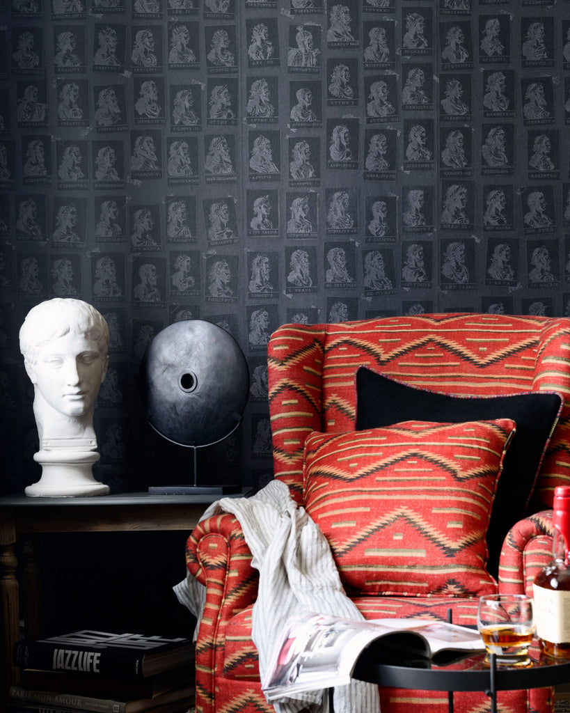 Emperor's Anthracite Wallpaper from the Wallpaper Compendium Collection by Mind the Gap